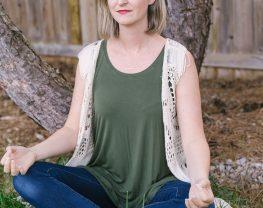 Megan sitting in Meditating