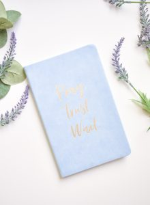 journal and flowers